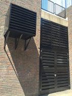 Acoustic Louvre (Double) Doors & Wall Mounted Attenuator