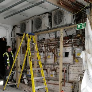 sound enclosure installation