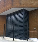 Acoustic Louvre Screen Enclosure - Kings Road