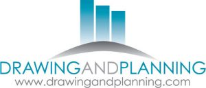 drawing and planning logo